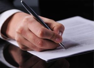 Signing-of-business-document