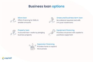 Infographic on business loan options