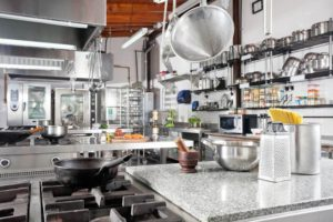 Image of a restaurant kitchen and the cooking equipment