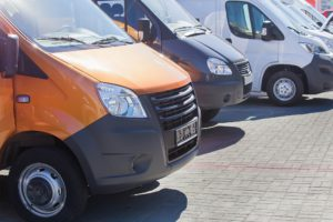 A fleet of vans bought with hire purchase