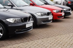 Image of a business' car fleet, bought with a hire purchase agreement.
