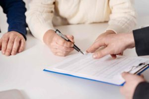Person signing a Temporary Bridging Loan Programme contract