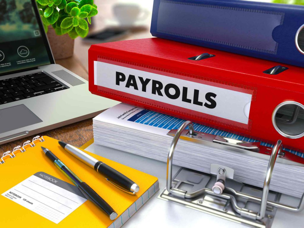 """3 files stacked on top of each other, with one labelled """"payrolls"""""""